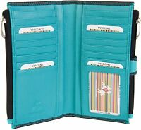 Visconti Womens Medium Leather 17 Card  Purse Wallet Gift Boxed 2 Colours CD23