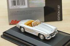 Schuco 45 260 5300 1:87 Mercedes Benz 300 SL Roadster in silber II (S1)