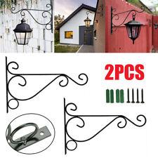 More details for 2x heavy duty metal hanging basket brackets garden plant hanger hook wall decors