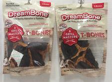 """New listing DreamBone Grill Masters T-Bones 5 Tbone Dog Treats w/ Added Vitamins """"Lot of 2"""""""
