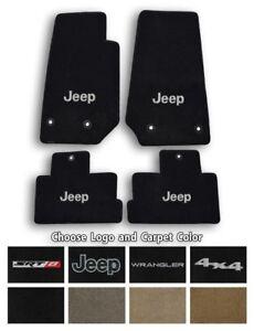 Jeep Wrangler Ultimats Carpet 4pc Floor Mat Set - Choose Color & Logo