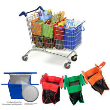 One Set of 4 Bags Reusable Eco Grocery Cart Shopping Trolley Bags Insulated Bag