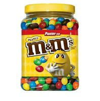 M&M's Candy Peanut Chocolate, NEW (62 oz.) Pantry Party Size Mars Lot Snacks