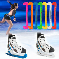 1 Pair Durable Plastic Ice Hockey Skate Walking Blade Protective Cover Guards AF