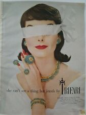 1957 Trifari Whirlwind necklace earrings bracelet pin jewelry ad