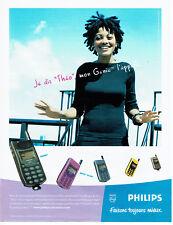 Publicité Advertising 018  1998  Philips téléphone mobile Génie Théo