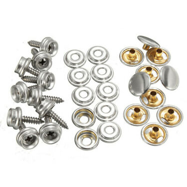 Stainless Steel Fastener Snap Press Stud Cap Button Boat Canvas Pack Gadget