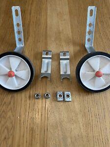 """Universal Stabilisers For 12"""" - 20"""" Wheel Kids Bikes - Black/White/Red"""