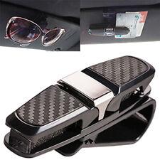 Car Auto Sun Visor Glasses Sunglasses Card Ticket Holder Clip Black Accessories