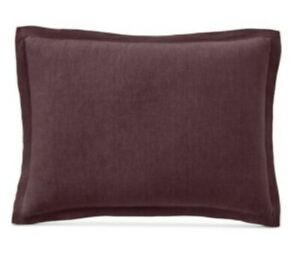 Hotel Collection Linen Standard Sham By Macy's Wine Burgundy Red
