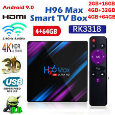 H96 Max Smart Android 9.0 TV Box 4GB RAM 64GB Quad Core HD 4K 1080P WIFI IPTV