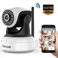 Sricam Cámara IP 1080P Vigilancia WiFi Interior Inalámbrico Micrófono y Altavoz