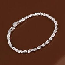 Elegant 925 Sterling Silver Filled SF Twist Chain Bracelet Bangle BL-A374