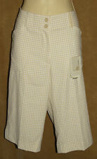 """NIKE GOLF - FIT DRY - """"HOUNDSTOOTH"""" Design - GOLF SHORTS size M / 8  *NEW $65"""