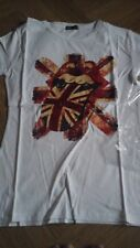 Ladies T shirt. UNION JACK/ Rolling Stones style
