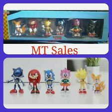 Sonic The Hedgehog Mini Figure 6pcs Set Collectibles 2.5 Inches new in box