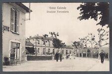 VARESE SESTO CALENDE 31 STAZIONE FERROVIARIA Cartolina viaggiata 1912
