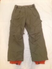 SESSIONS Snowboard Ski Snow Nylon Pant Terrain Series Waterproof Olive Small Sc7