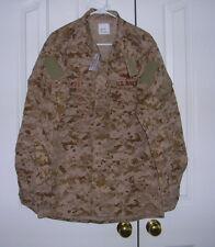 US Navy Working Uniform NWU AOR1 Type II Shirt Seal Devgru SOCOM Large Long NWT