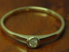 14kt 585 Weißgold Ring mit Brillant Solitär Besatz / Diamant / 1,1g / Rg 54