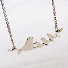 Birds on a Branch Silver metal cute Pendant Necklace - AW17