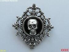 steampunk brooch badge gothic skull pirate horror hallowe'en evil dead
