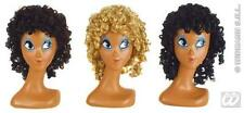 Ladies Brown Curly Wig 70'S Perm Disco Glamour Model Fancy Dress