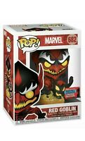 FUNKO POP! MARVEL #682 RED GOBLIN 2020 NYCC OFFICIAL CON STICKER EXCLUSIVE