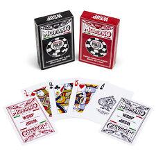 Modiano WSOP 2015 100% plastic playing cards, Bridge/Regular, 2 deck set R/B