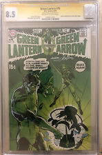 Green Lantern #76 CGC VF+ 8.5 SS Signed  by Neal Adams! Great Key!