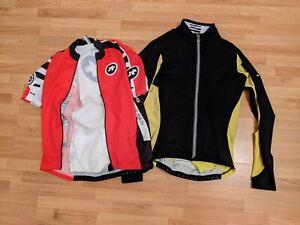 Assos Habu 5 Jacket, size large (plus jersey with broken zip size XL)
