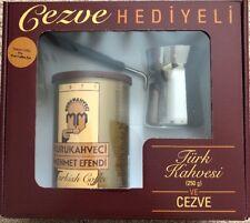 Turkish Coffe Kurukahveci Mehmet Efendi Türk Kahvesi 8.8(250 gr) Free Coffe Pot
