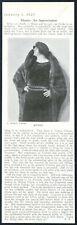 1925 Claudia Muzio opera star photo An Appreciation vintage print article