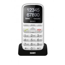 cellulare SAIET Pronto MAX tasto SOS torcia Radio tasti grandi parlanti BIANCO