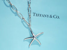 Tiffany & CO ELSA PERETTI Sterling Silber groß Seestern ovale Glieder Halskette