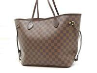 Auth LOUIS VUITTON Neverfull MM Damier Ebene Tote Bag Shoulder Bag N51105 V-5363