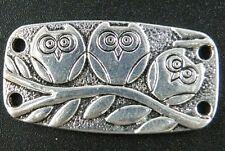 20pcs Tibetan Silver Rectangle Bird 4Holes Connectors 38x20x2mm