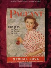PAGEANT January 1953 STEPHANIE GRIFFIN ZSA ZSA EVA MAGDA GABOR BETTY GRABLE