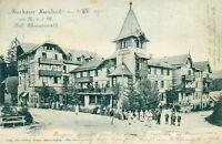 Ansichtskarte Kurhaus Hundseck 1900 Schwarzwald Personen (Nr.780)