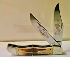 """1988 CASE XX """"Wright Brothers"""" Hunter Stag Pocket Knife 5265 SS Original+Beauty!"""