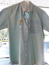 Vintage Collectible Vietnam Embroidered Tiger Button Down Tourist Shirt.