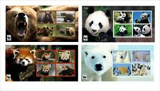 GRIZZLY PANDA POLAR BEARS RED PANDA    4 S/SHEET MNH IMPERFORATED bear