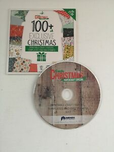 100+ Christmas Templates, Papers, Digi Stamps - Warners Scrapbooking CD-Rom