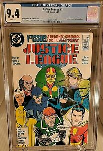JUSTICE LEAGUE # 1 - CGC 9.4 - 1ST Maxwell Lord Free Shipping