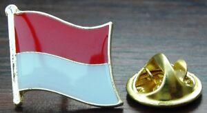 Monaco Flag Pin Badge Principatu de Múnegu Principauté Brooch