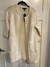 Banana Republic Drama Coat Open Cardigan Sweater Duster Cream NWT Size XS