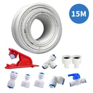 Multipurpose 15M Water Supply Pipe Tube+Fridge Connector Kit For European Style