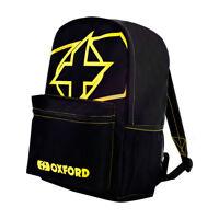 Oxford X-Rider Motorcycle Motorbike Backpack Yellow Rucksack Bag 15 Litres