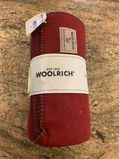 WOOLRICH RED THROW BLANKET 54 X 60 NEW Wool/Nylon Blend