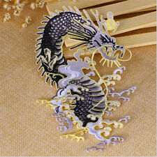 1pc Dragon Clothes Patches Embroidery Decor Fabric Applique Sew On DIY Craft